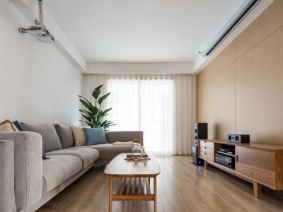 日韩风格-118平米三居室整装装修样板间