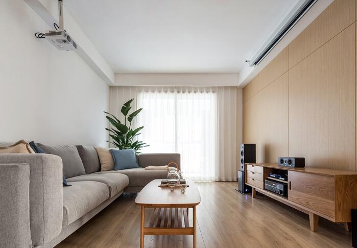 日韩风格-118平米三居室整装-装修样板间