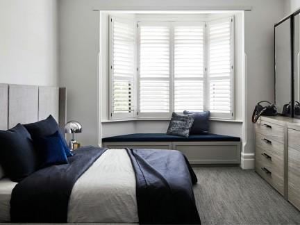 北欧小户型卧室飘窗装修效果图