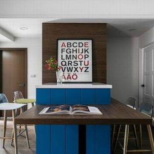 欧美风情三居室餐厅装修效果图