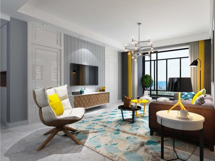 现代简约-137平米四居室-装修设计