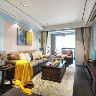 欧美风情二居室客厅装修效果图