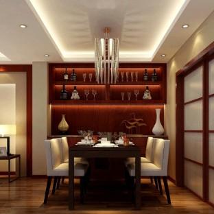 中式古典三居室餐厅装修效果图