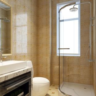 简欧风格二居室卫生间装修效果图