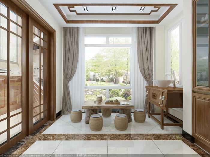 中式风格-169平米三居室-装修样板间