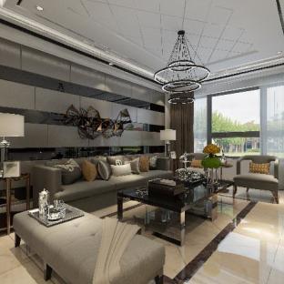 后现代风格三居室客厅装修效果图