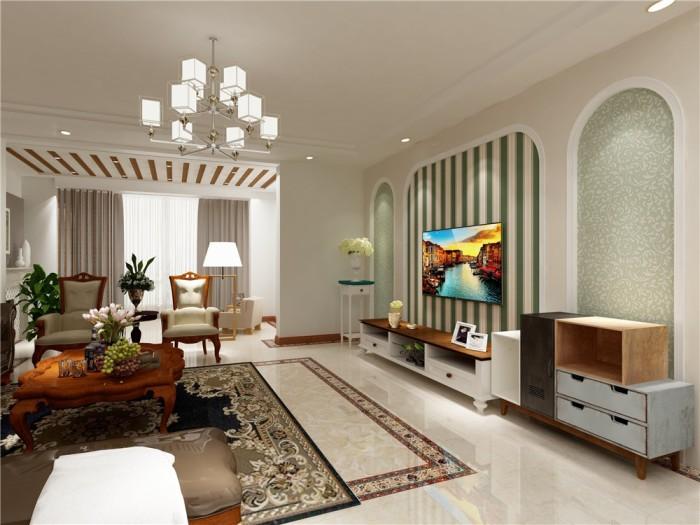 欧美风情-180平米四居室-装修样板间