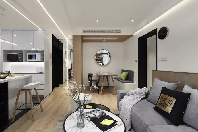 现代简约-88平米二居室整装-装修样板间