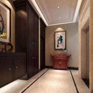 中式古典五居室玄关装修效果图