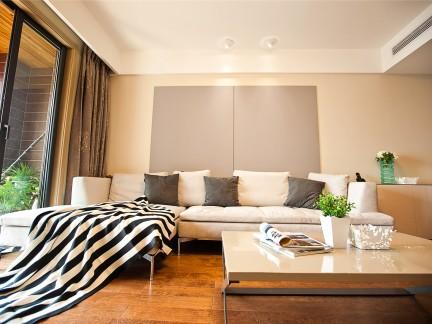 现代简约-78平米二居室装修样板间