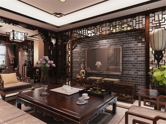 中式风格-101平米二居室-装修样板间
