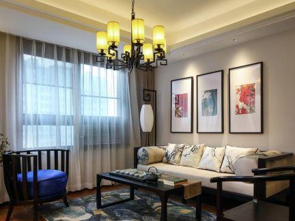 中式风格-121平米三居室装修样板间