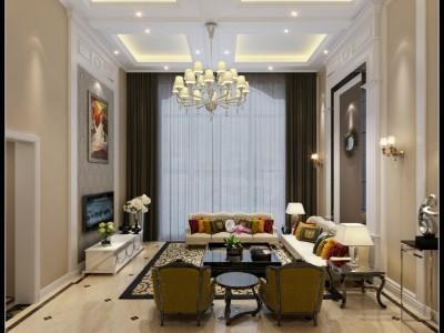 欧美风情-350平米四居室整装装修设计
