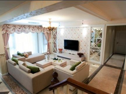 田园风格-110平米三居室整装装修样板间