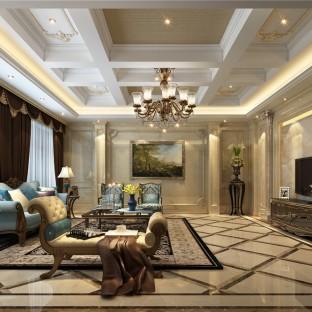 简欧风格四居室客厅装修效果图