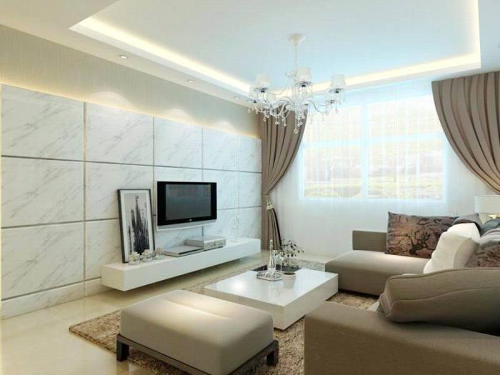 现代简约-89.33平米二居室-装修设计