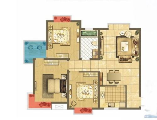 温馨美式三居室