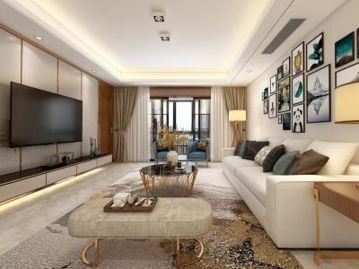 简欧风格-160平米三居室装修样板间