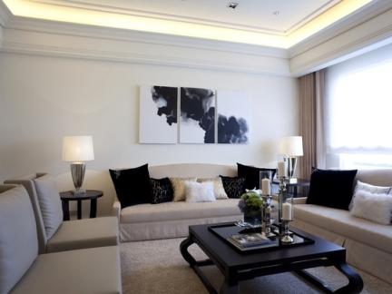 现代简约-139.38平米三居室整装装修样板间