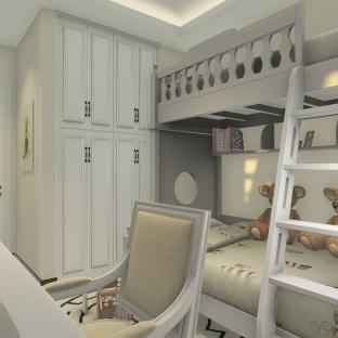 现代美式三居室儿童房装修效果图