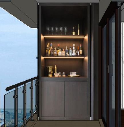 阳台酒柜(示意图)