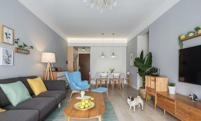 现代简约-95平米二居室整装-装修设计