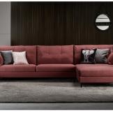 曲美家居 现代北欧可定制软硬度布艺组合沙发 客厅转角成套沙发