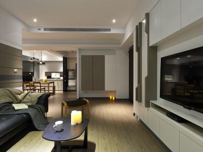 现代简约-101平米三居室整装装修设计