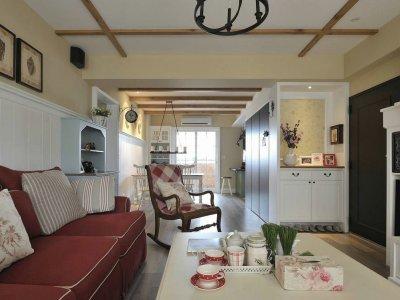 中式古典-103平米三居室整装装修设计