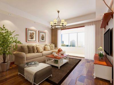 现代简约-119平米二居室整装装修设计