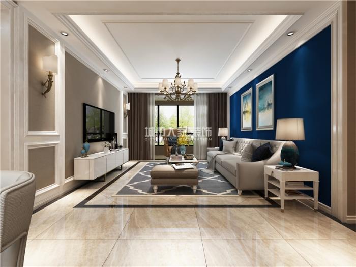 现代-125平米三居室-装修设计