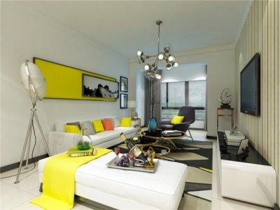 现代-95平米二居室整装装修设计