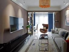 现代-89平米二居室装修图片