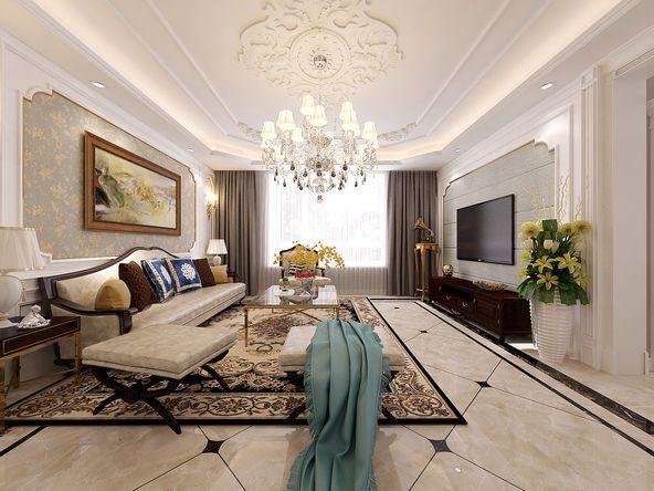 简欧-131平米三居室整装-装修设计