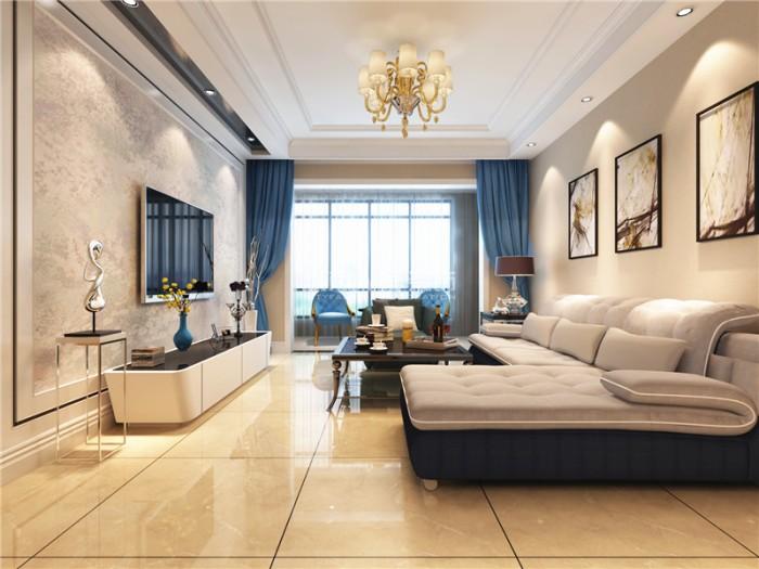 现代-96平米三居室整装-装修设计