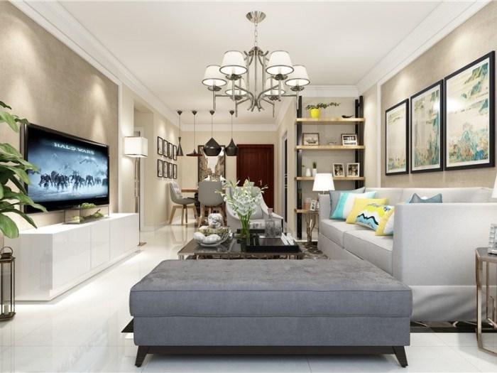 现代-105平米三居室整装-装修设计