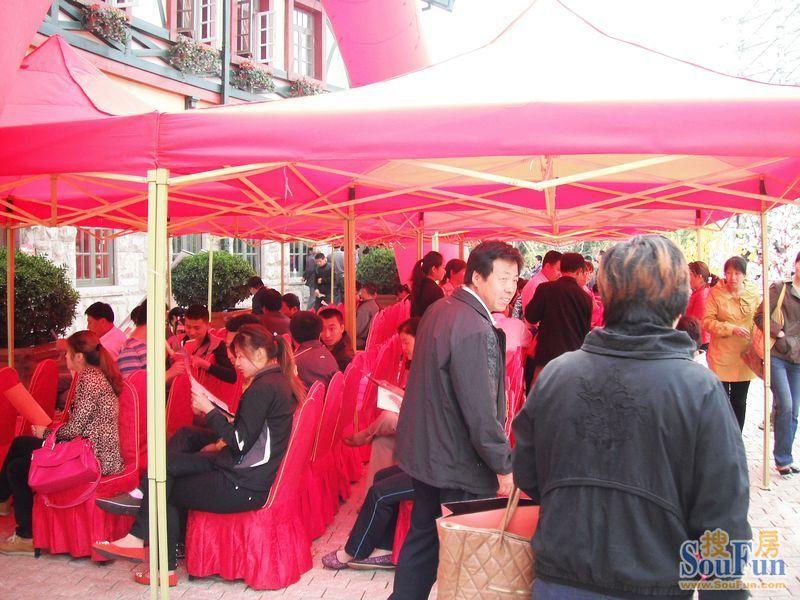 天一畔城项目现场(2013.2.27)-青岛搜房网