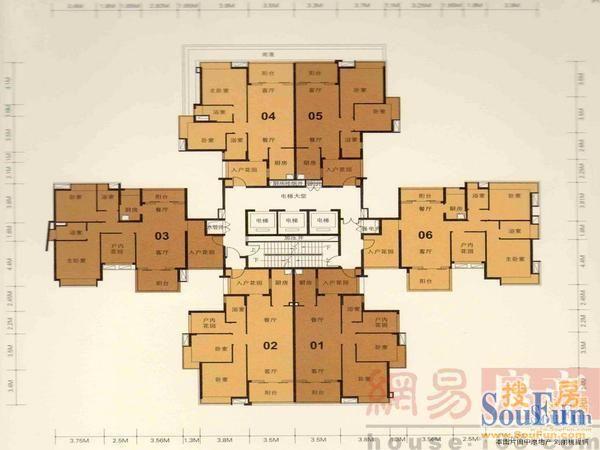 6米x15米联排房结构图