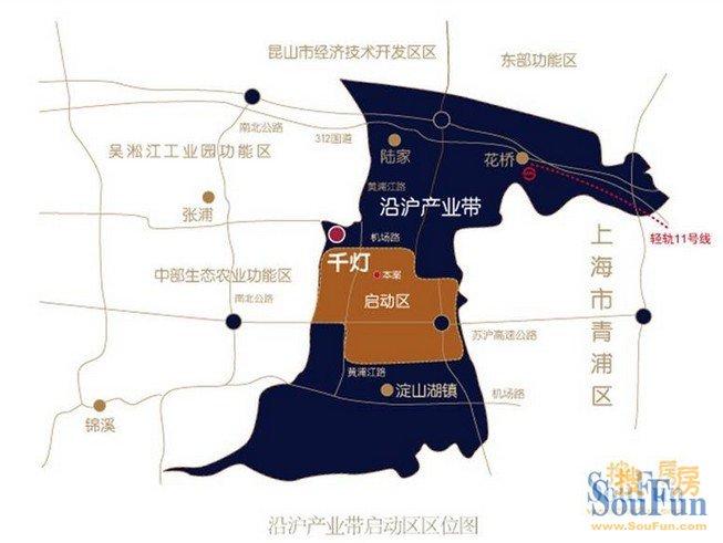 昆山千灯区域规划图 高清图片