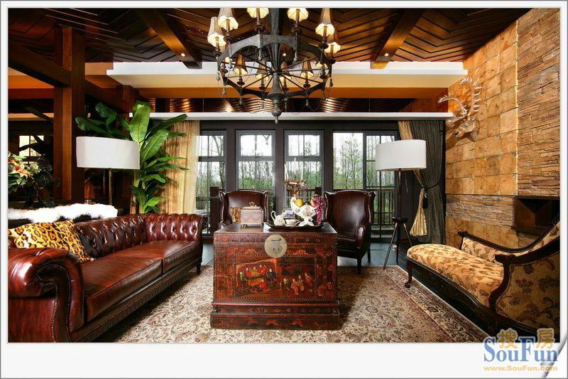 别墅装修-美式样板间-欧美风情-别墅-装修案例设计说明图片