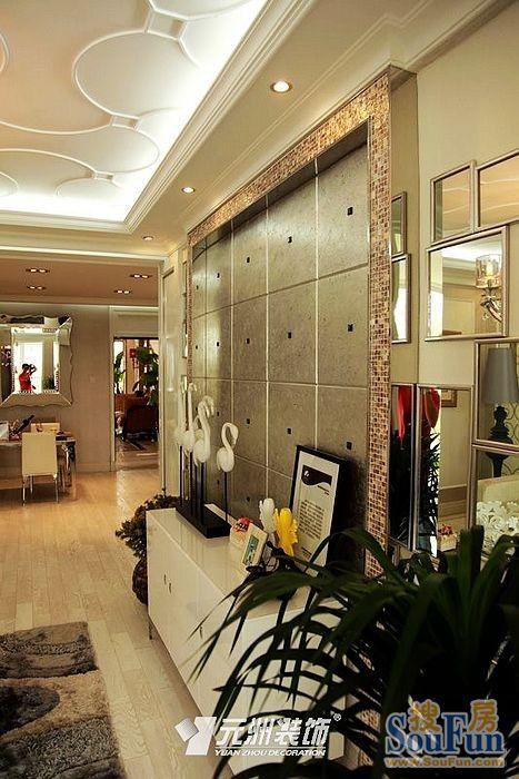98平2室1厅 现代简约风格装修案例 预算12万元高清图片