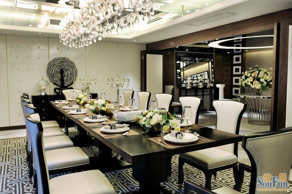 小区-四居室-160㎡-餐厅装修效果图-160平4室2厅 其它风格装修案例 高清图片