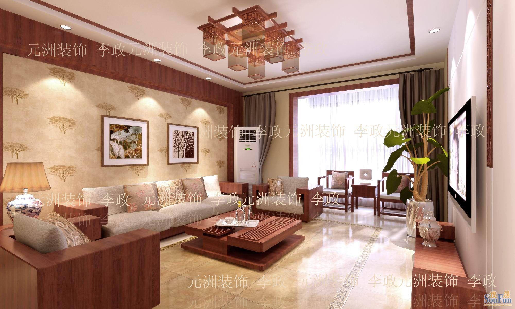 红成132平米欧式风格装修设计效果图元洲李政作品图片