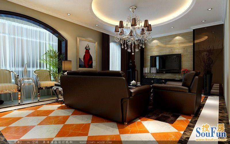 70平2室1厅 现代简约风格装修案例 预算8万元高清图片