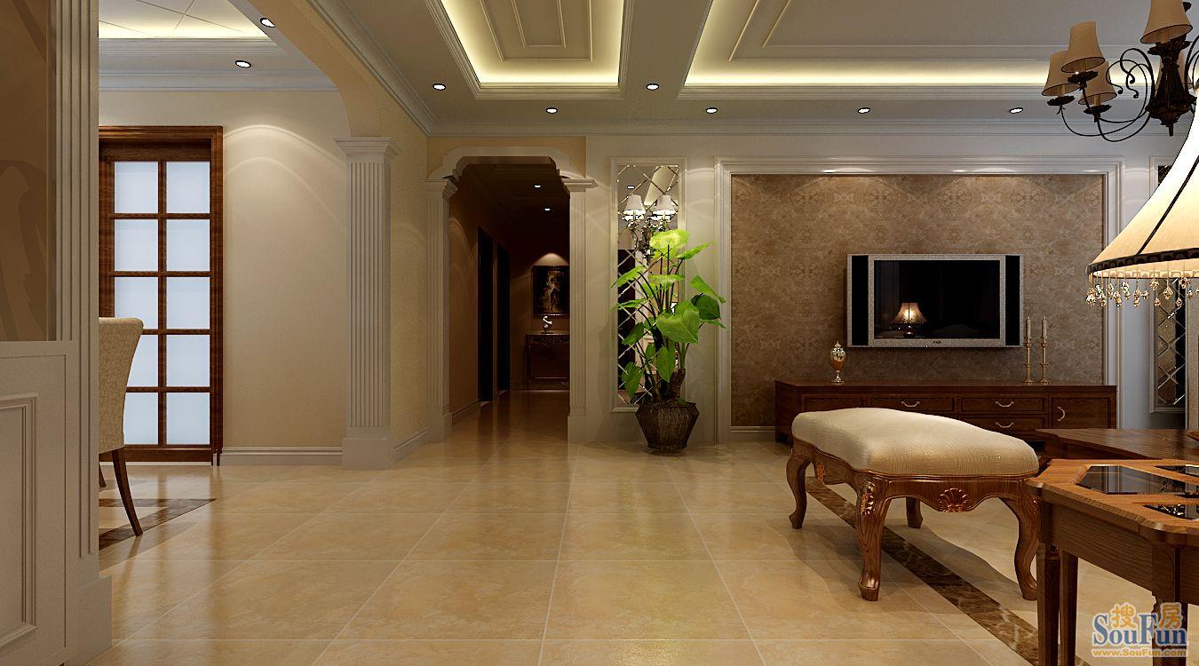 康平苑三居室欧式风格案例玄关 三居室 155平米 装修设计 高清图片
