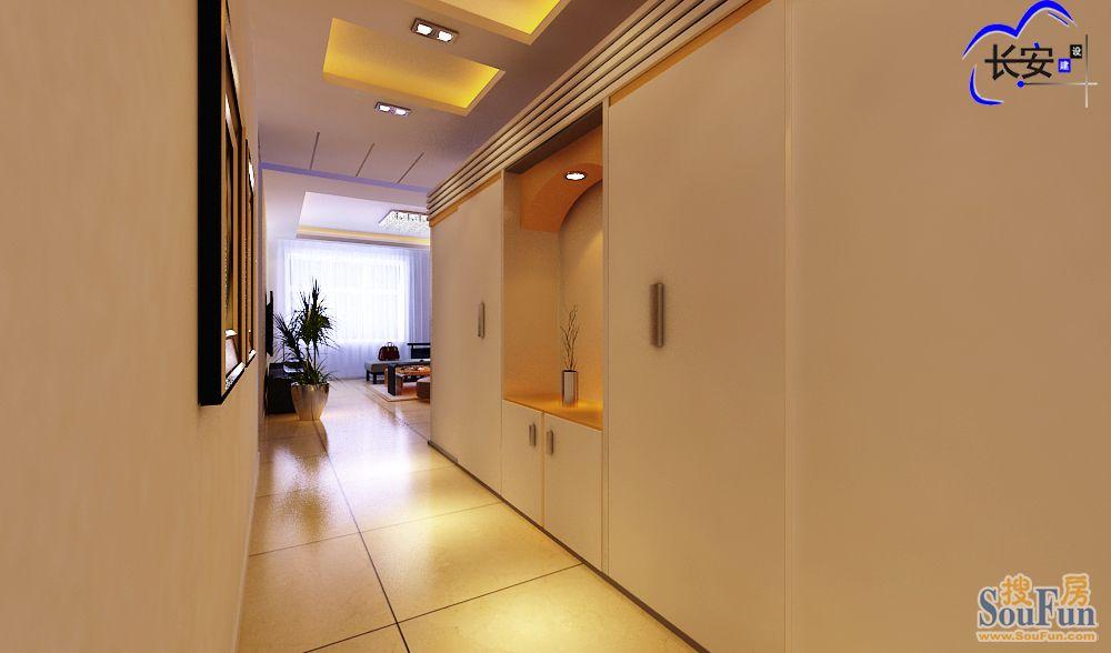 现代简约二居室112平米3万 忠诚香槟郡装修案例 石家庄房天下家居装修网
