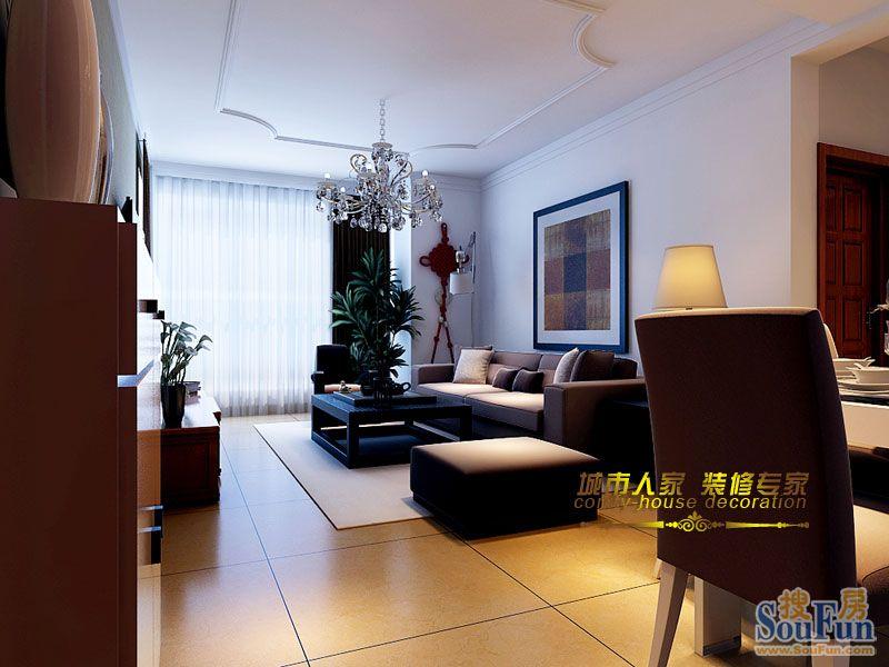 88平2室2厅 现代简约风格装修案例 预算7万元高清图片
