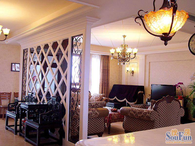 93平2室1厅 现代简约风格装修案例 预算10万元高清图片