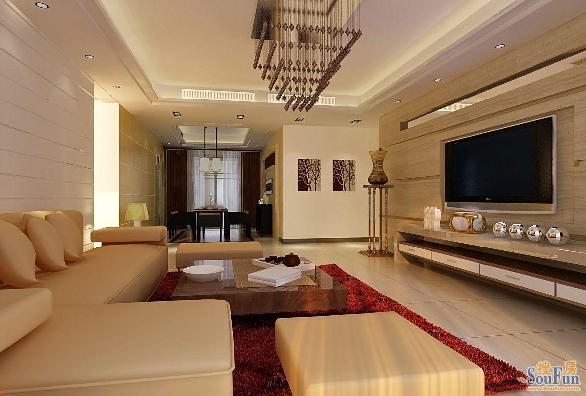 93平2室2厅 现代简约风格装修案例 预算6万元高清图片