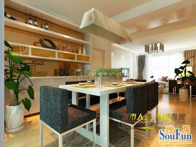 90㎡-客厅装修效果图-90平2室2厅 现代简约风格装修案例 预算3万元高清图片